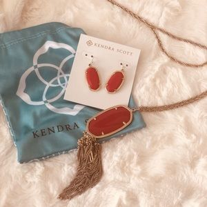 Kendra Scott Red/Gold Rayne/Dani Set